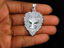 Fashion Star Lion Head 925 Sterling Silver New Animal Jewelry Bahubali Pendant - $94.55