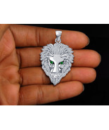 Fashion Star Lion Head 925 Sterling Silver New Animal Jewelry Bahubali P... - $105.07