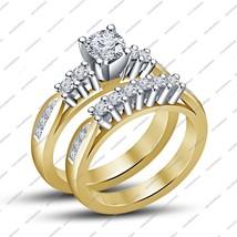 Fashion jewelry Cubic Zirconia Gold Plated Bridal Wedding Engagement Ring Set - $89.03