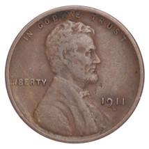 1911-S Lincoln Wheat Cent 1C Penny (Fine, F Condition) - $59.39