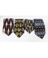 Men's neck tie work tie geometric medallion  lot of 4 - $12.82