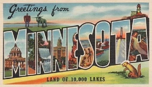 Greetings From Minnesota Magnet