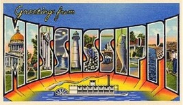 Greetings From Mississippi Magnet - $7.99