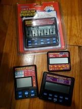 Lot Of 4 Radica Hand Held Pocket Games Slot, Poker & Deuces Excellent Cond - $18.66