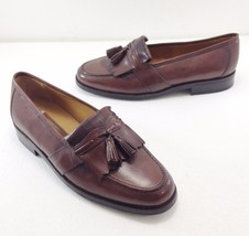 Johnston & Murphy Mens 10.5 M Brown Kiltie Tassel Loafers Handcrafted - $123.19 CAD