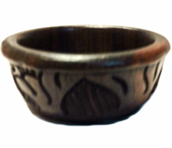 HAND CARVED BOWL (SMALL) SOLID EBONY - $28.00