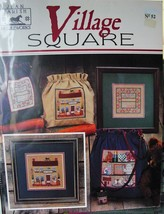 "Cross stitch Leaflet ""Village Square"" #52 Several Designs - $5.00"