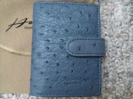 HORMIGA HANDMADE BLUE OSTRICH CARD/PHOTO HOLDER  - $49.99