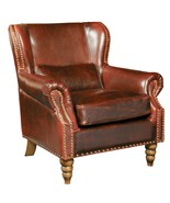 Living Room  Furniture Tall Wingback Brown Genuine Leather Club Chair,35... - $1,336.50
