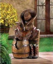 14939 SHIPS FREE Cascading Fountains Wild West Water Fountain - $122.71