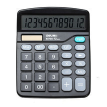 Deli 837 Basic Desktop Calculator 12 Digital Di... - $10.43