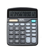 Deli 837 Basic Desktop Calculator 12 Digital Display Dual Power Solar An... - ₨668.55 INR
