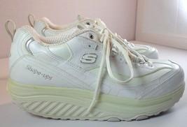 Skechers Shape-ups Shoes Womens 9.5 White / Silver Walking Toning Sneakers 11800 - $59.95