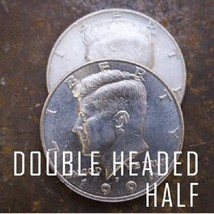 Double Side Fake Coin Half Dollar Magic 2 Sides Head magicin Prop Fee Shipping. - $11.39