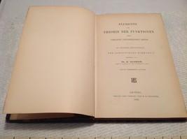 Antique German Book Theorie Der Funktionen