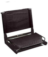 Stadium Chair Canvas Steel Frame Case Lot Of 6 Black Seats Free Ship Ble... - $217.80