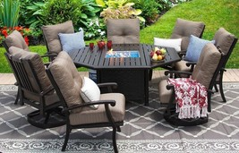 BARBADOS CUSHION OUTDOOR PATIO 9PC DINING SET - $6,415.20