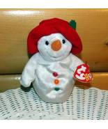 TY Beanie Baby 2003 CHILLIN Snowman Cool in Red Hat MWT - $3.99