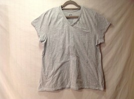 Champion Light Gray V Neck T Shirt Size XXL Loose Fit