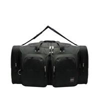 "LARGE BLACK  DUFFELBAG  DUFFEL BAG Multi Pocket 28"" Travel Huge Big - $19.75"