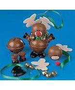 Jingle Bell REINDEER Christmas Ornament Craft Kit  - $2.50