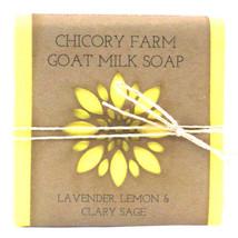 Goat Milk Soap Lavender, Lemon & Clary Sage Chicory Farm Natural Handmad... - $8.90