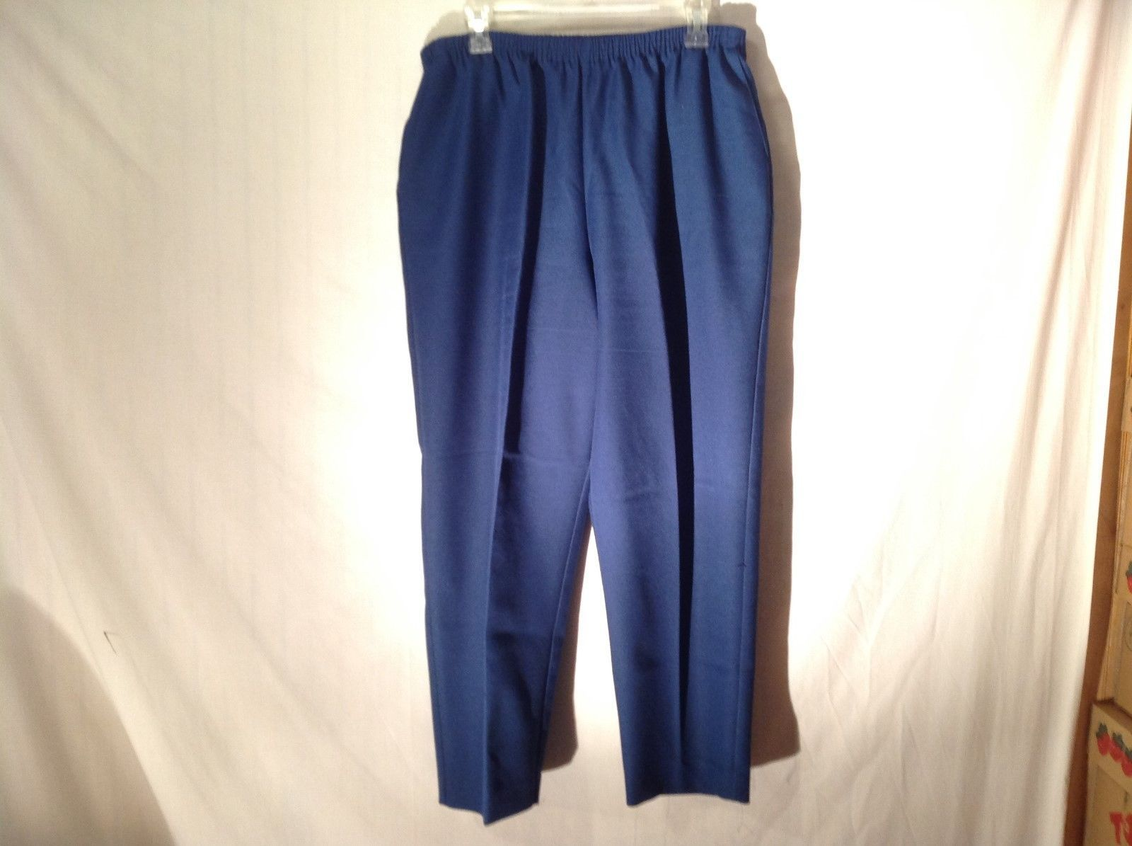 Ladies Synthetic Blue Elastic Pants by Alfred Dunner Sz 16