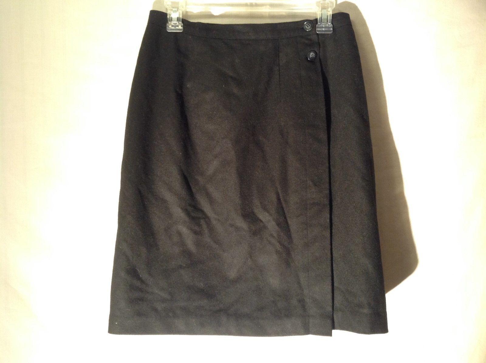 Womens Stephanie Andrews Black Wool Skirt Sz 6