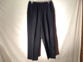 Womens Black Dress Pants by Alfred Dunner Sz 16