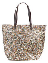 Large Leopard Zippered Shopper Beach Gym Tote Bag  Handbag Purse Shoulde... - $13.85