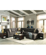 FRANCESCA - Modern Gray Microfiber Living Room ... - $1,515.89