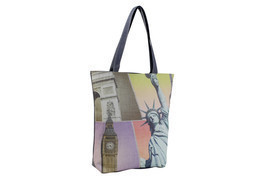 Statue Liberty Big Ben Shopper Beach Gym Tote Bag Handbag Purse Shoulder... - $14.84