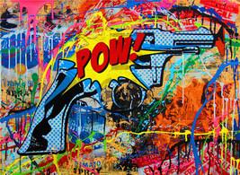 Mr Brainwash Bansky Oil Painting on Canvas Abst... - $34.65