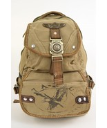 Canvas Backpack Olive Eagle Design Rusksacks Da... - $29.69