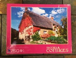 Sure-Lox Thatched Cottages Country Rustic Garden 750 Piece Jigsaw Puzzle... - $11.83
