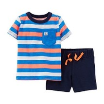 Carters Infant Boys Anchor  2pc Set Short  Outfit Size- NB NWT - $11.89
