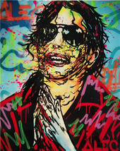"Alec Monopoly Print on Canvas Graffiti art decor Michael Jackson 28x36"" - $33.48"