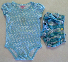 Girl's Sz 18 M Months Two Piece Outfit Blue Osh Kosh B'Gosh Floral Top &... - $12.80