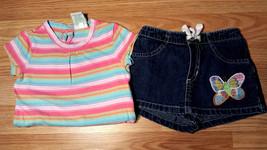 Girl's Size 18 M 12-18 Months 2 Piece Pastel Striped Circo Top & Old Navy Skort - $12.50