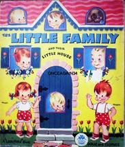 VINTAGE UNCUT 1949 THE LITTLE FAMILY PAPER DOLLS~#1 REPRODUCTION~VERY NO... - $18.25