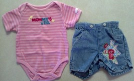 Girl's Size 0-3 M Months 2 Piece Outfit Mommy's Girl Top & Baby Gap Jean... - $11.70