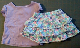 Girl's Size 18 M Months 2 Piece Purple Gymboree Top & BRUs Tiered Ruffle... - $13.00