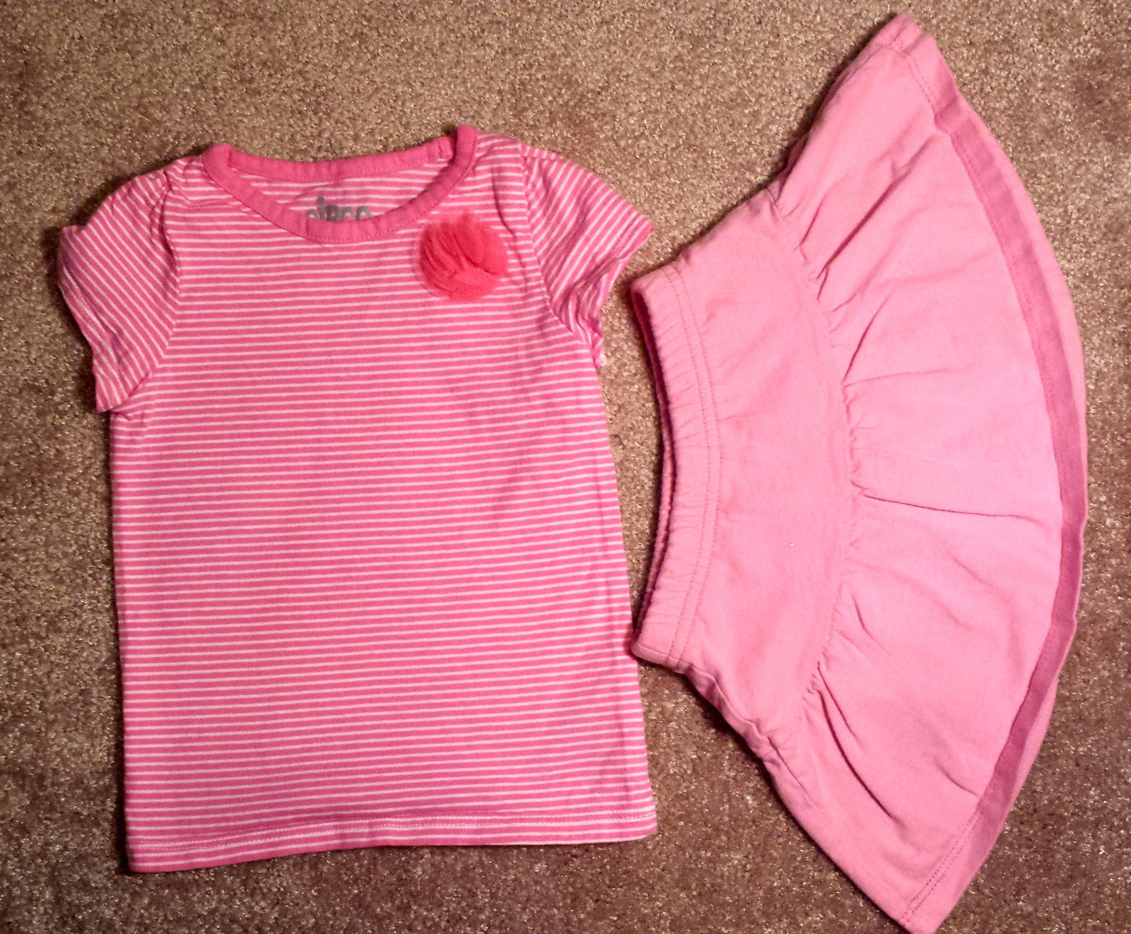 9bda26592 Girl's Size 12 M 9-12 Months 2 Pc Pink/ Wht and 19 similar items. S l1600