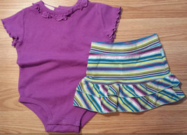 Girl's Size 9-12 M Months Two Pc Purple J Khaki Top & The Children's Pla... - $12.50