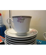 Set of 7 Fine China Coffee or Tea Cups With Saucers - $24.99