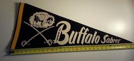 Vintage VTG Buffalo Sabres 70's Felt Pennant NHL Crisp - $186.99