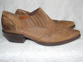Nine West Brown/Tan Slip On Mules 8M Used - $39.59