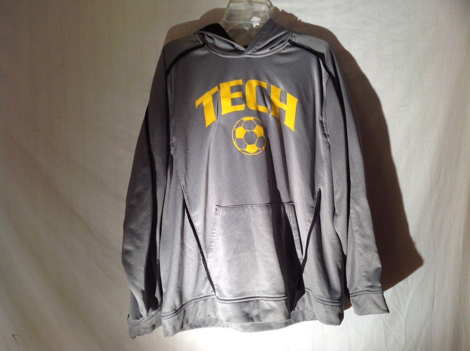 Mens TECH Halloway Gray Hoodie Sweatshirt Sz Large