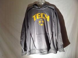 Mens TECH Halloway Gray Hoodie Sweatshirt Sz Large