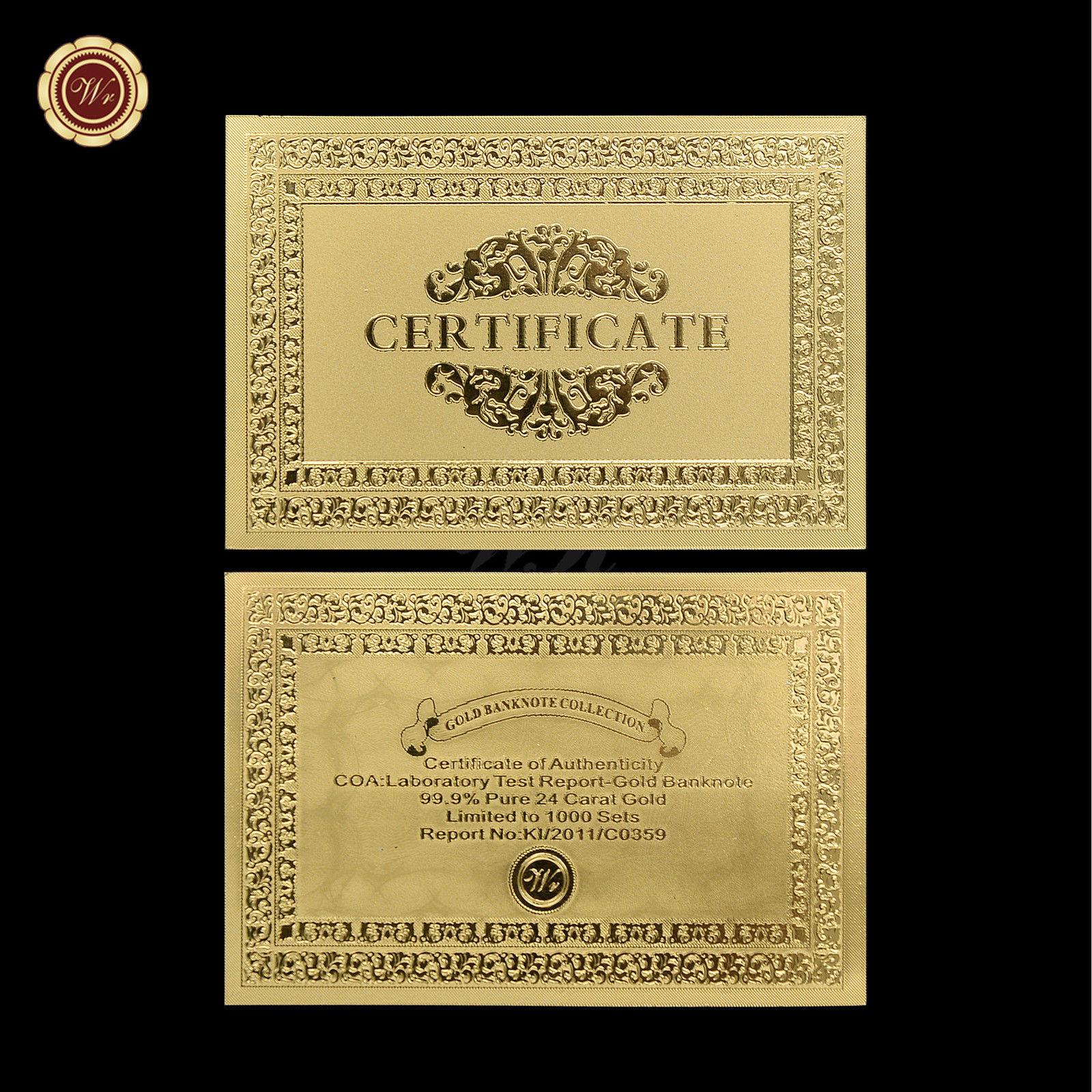 10pcs Zimbabwe 100 Trillion Dollars Banknotes Colorful 24k Gold Note Collectible